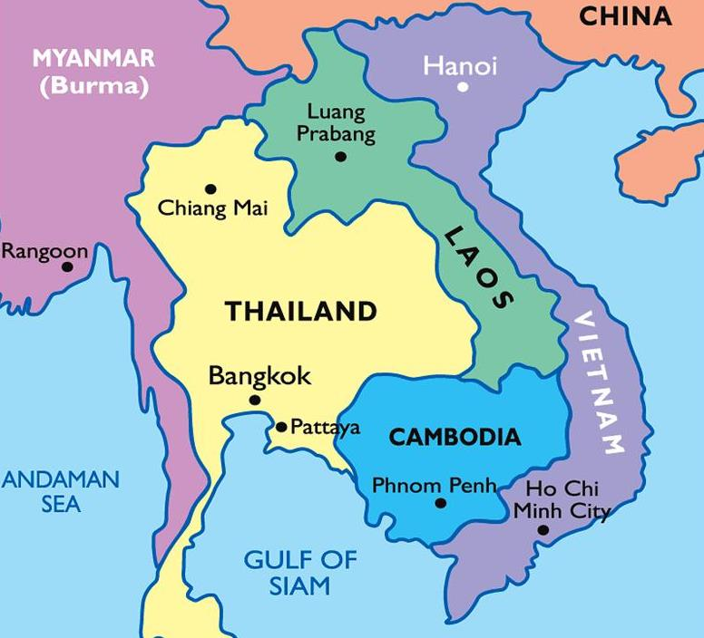 Map of SE Asia